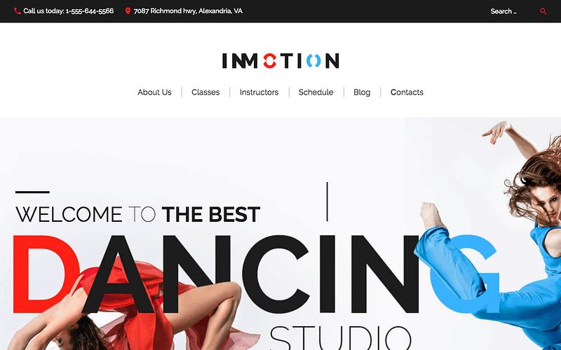 InMotion dance theme