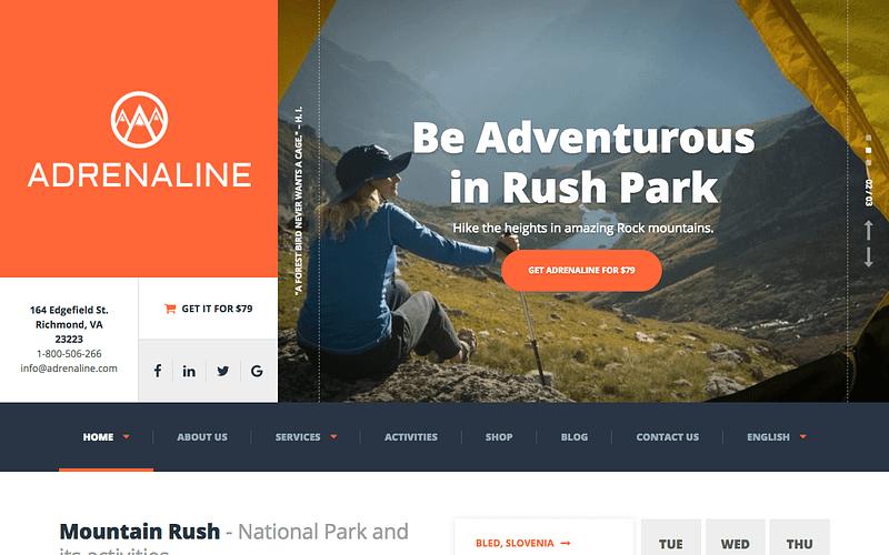 Adrenaline tour guide theme