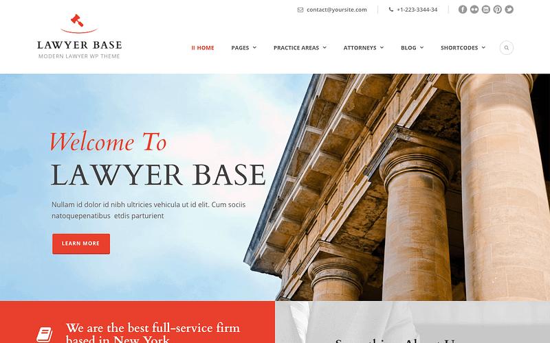 Lawyer Base WordPress theme