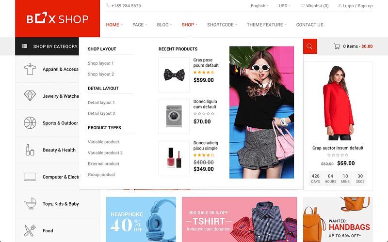 BoxShop eCommerce theme