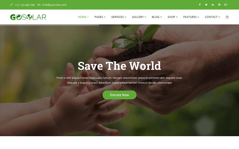 Go Solar WordPress theme