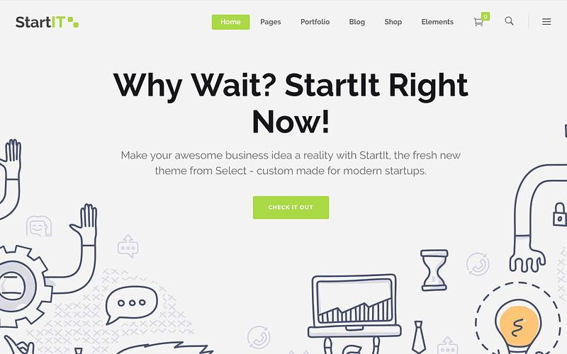 StartIT tech startup theme