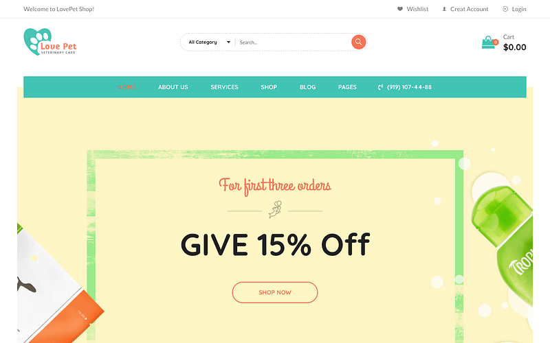 LovePet WordPress theme