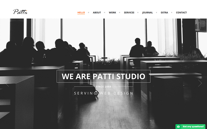 Patti one page WordPress theme