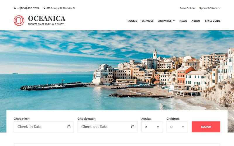 Oceanica hotel theme