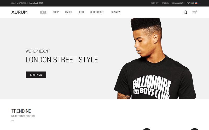 Aurum minimalist eCommerce theme