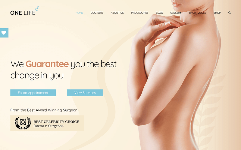 Onelife plastic surgery theme