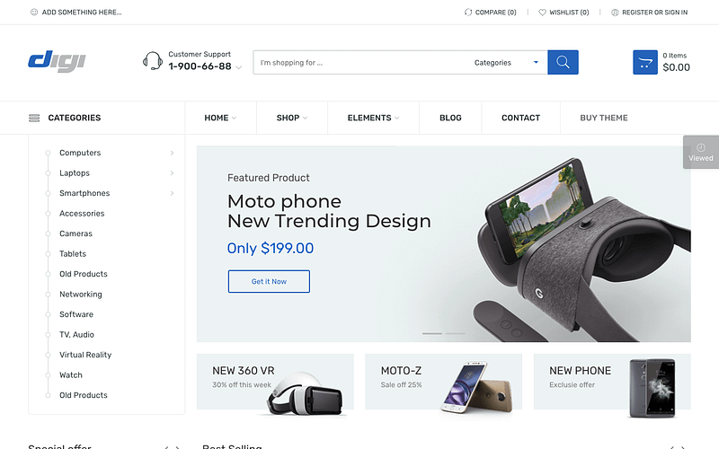 Digi WooCommerce price table theme