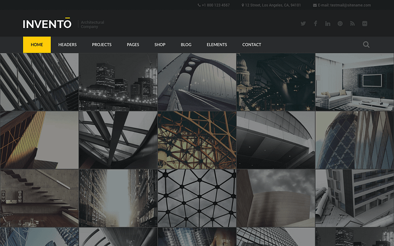 Invento WordPress theme for architects