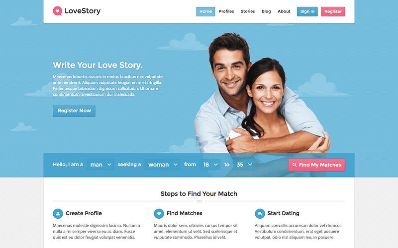 LoveStory dating WordPress theme