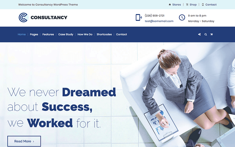 Consultancy business theme