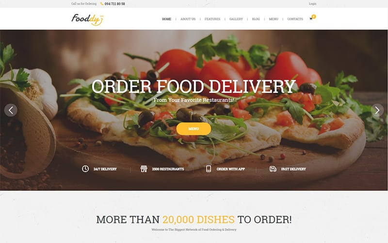 Fooddy 24/7 Food Ordering Delivery Theme