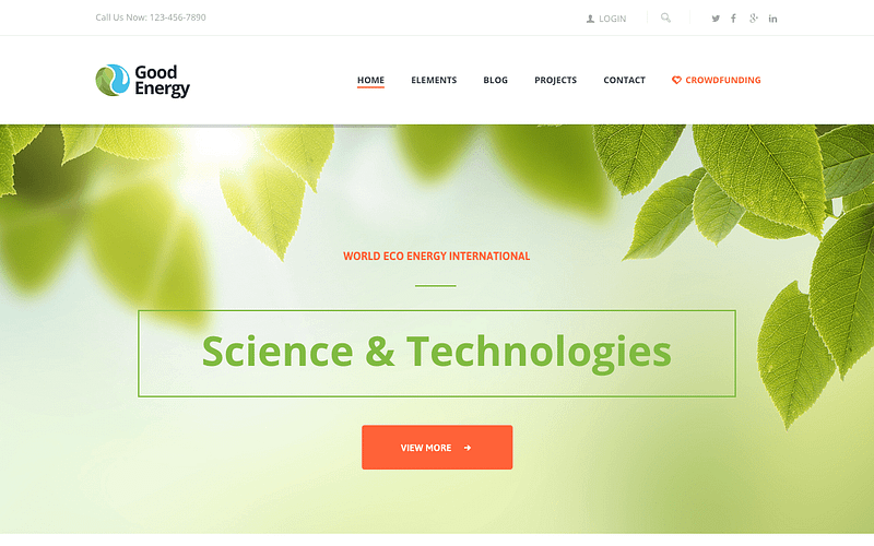 Good Energy WP theme