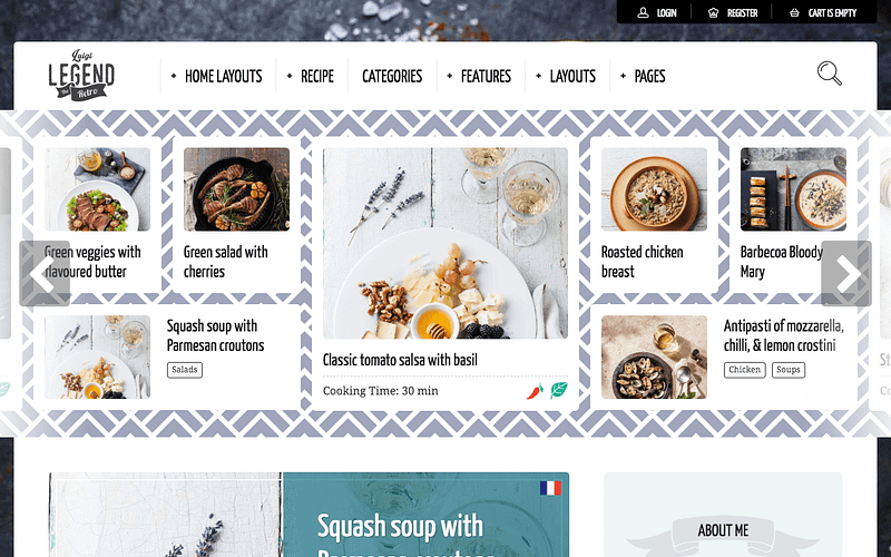 Neptune recipe WordPress theme