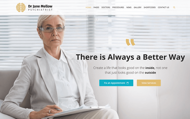 Psychiatrist WordPress themes