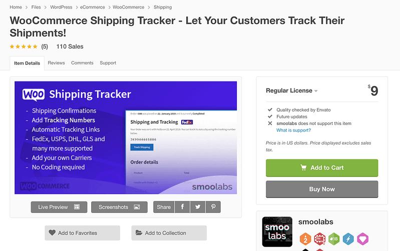 WooCommerce Shipping Tracker