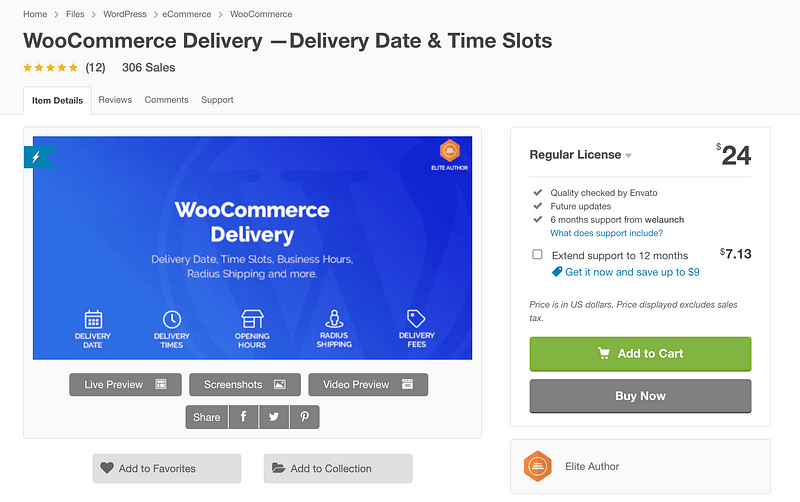 WooCommerce Delivery