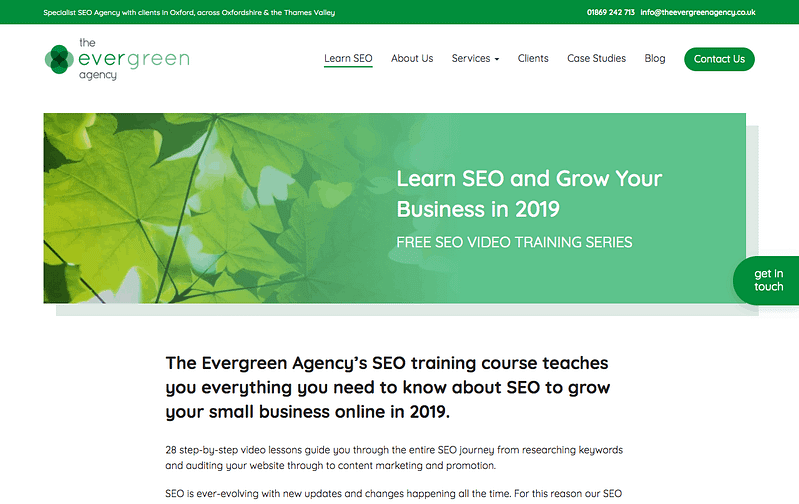 Evergreen SEO Training Course