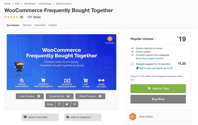 WooCommerce Frequently Bought Together