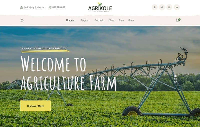 Agrikole theme for farmers