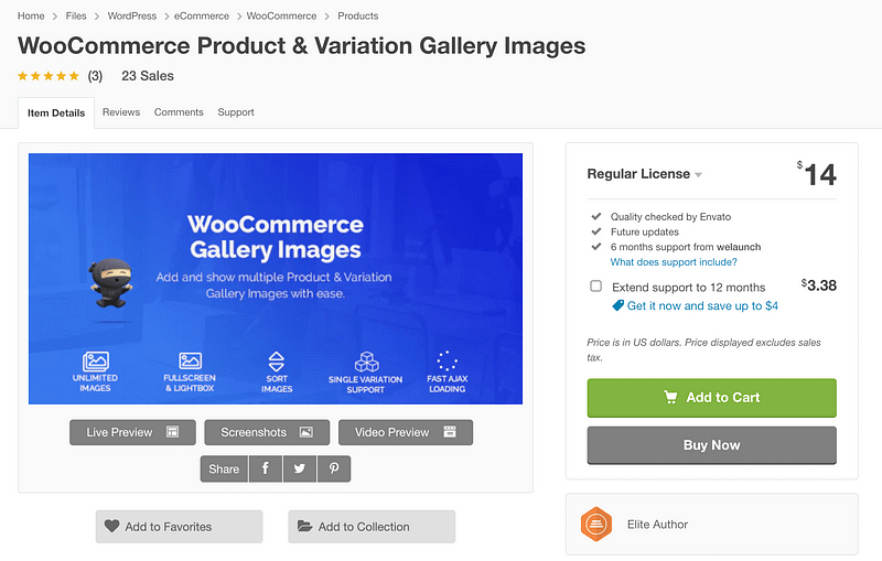 WooCommerce Gallery Images