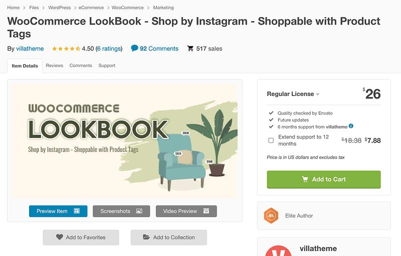 WooCommerce LookBook
