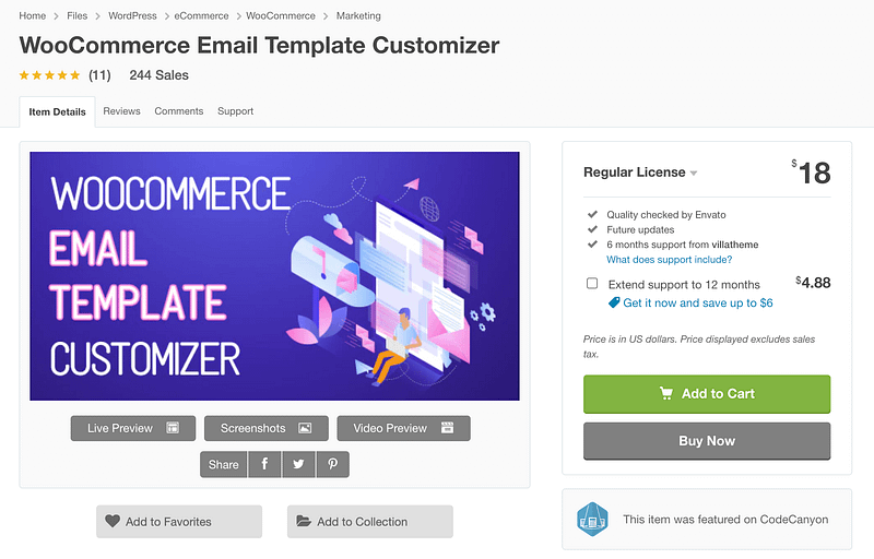 WooCommerce Email Template Customizer