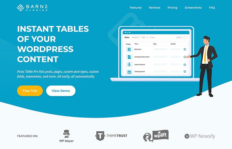 Posts Table Pro WordPress Table Plugin