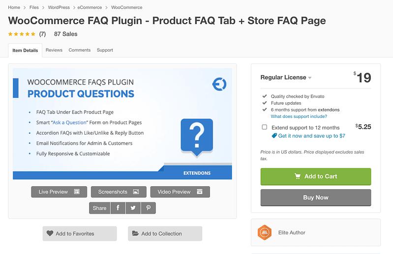 WooCommerce FAQ Plugin