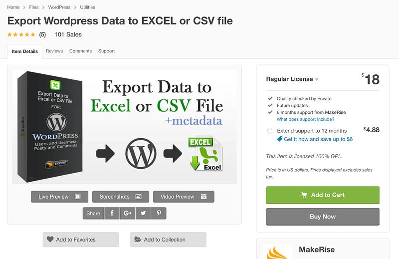 Export WordPress Data