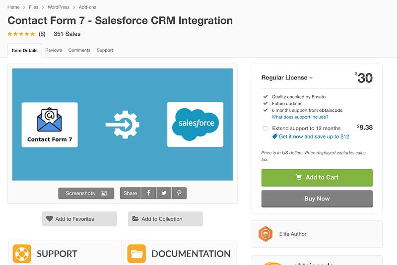 Contact Form 7 Salesforce Plugin