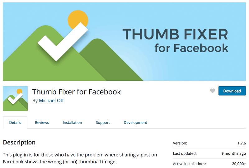 Thumb Fixer for Facebook plugin on wordpress.org