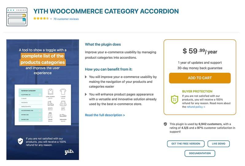 YITH WooCommerce Category Accordion