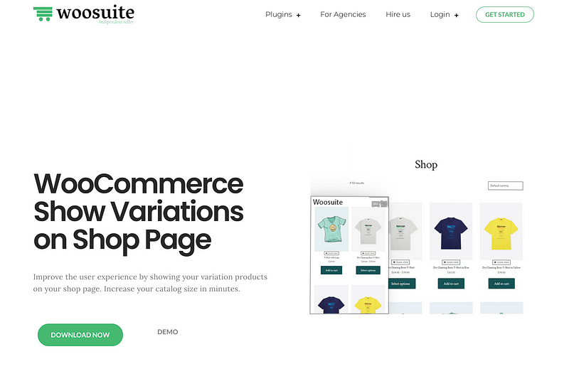 WooCommerce Show Variations Shop Page