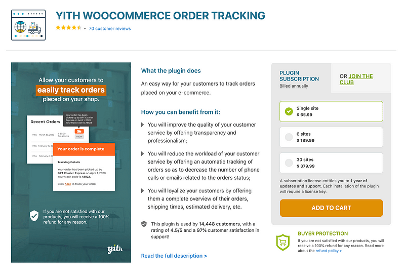 YITH Order Tracking