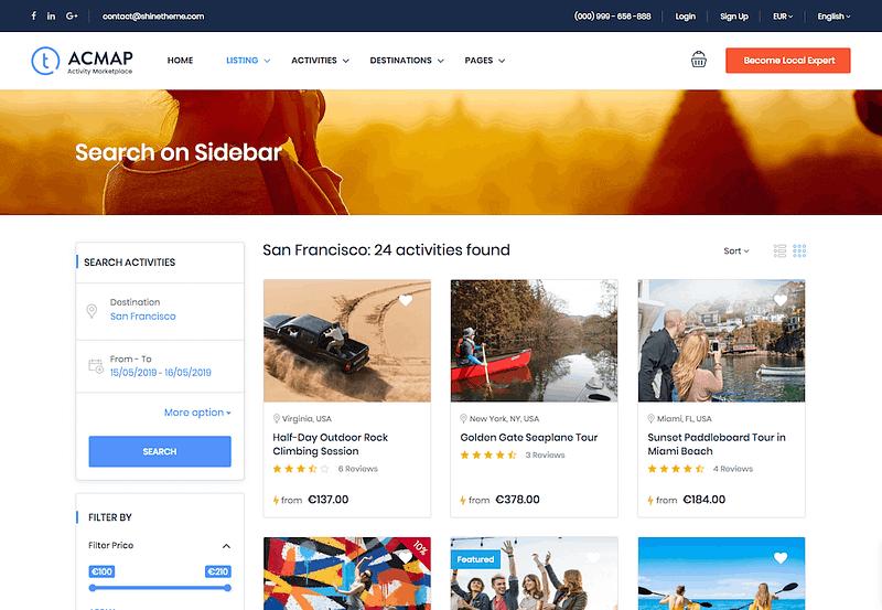 Traveler Sidebar Search