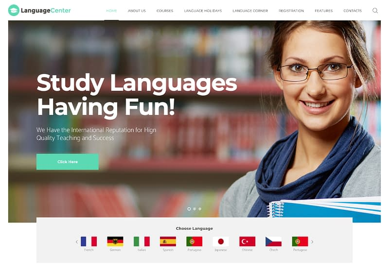LanguageCenter theme