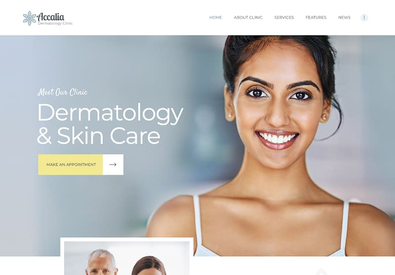 Accalia skin care theme