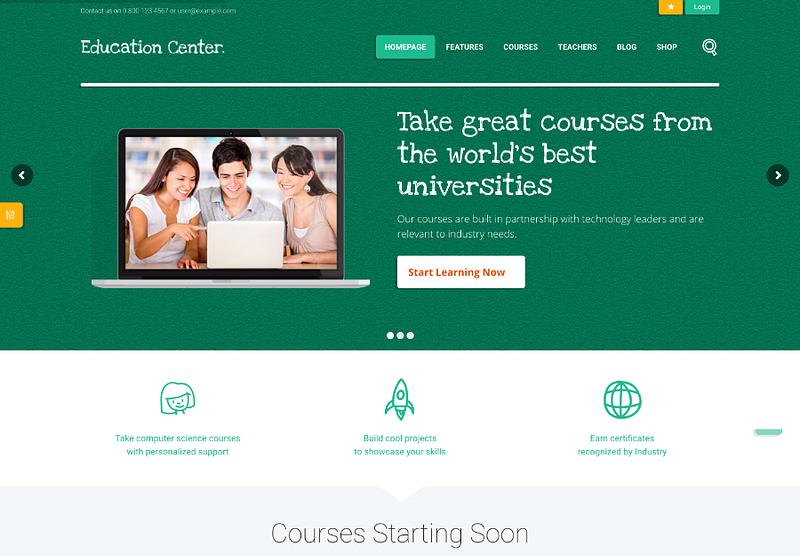 Education Center theme