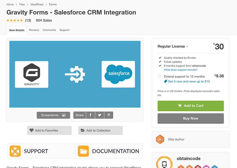 Gravity Forms Salesforce Plugin