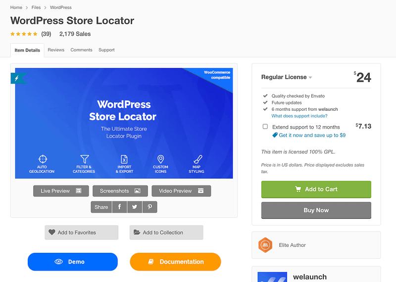 WordPress Store Locator plugin