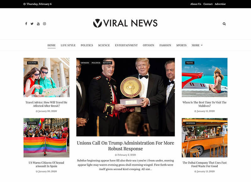 Viral News Theme