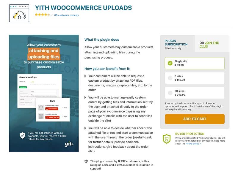 YITH WooCommerce Uploads