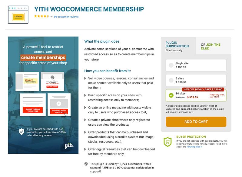 YITH WooCommerce Memberships