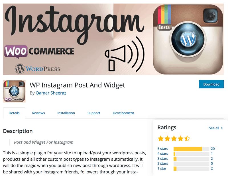 WP Instagram Post Widget