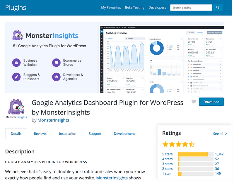 MonsterInsights Plugin