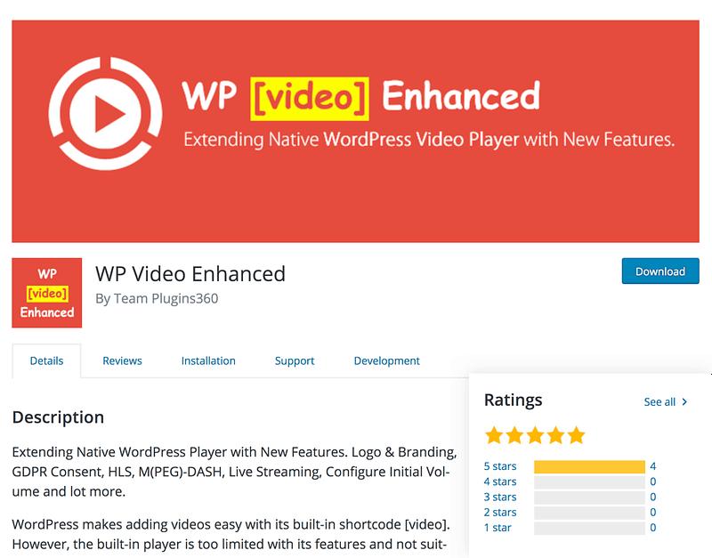 WP Video Enhanced