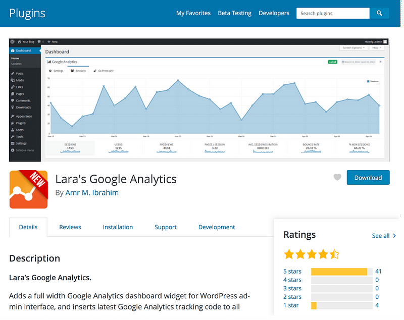 Lara's Google Analytics
