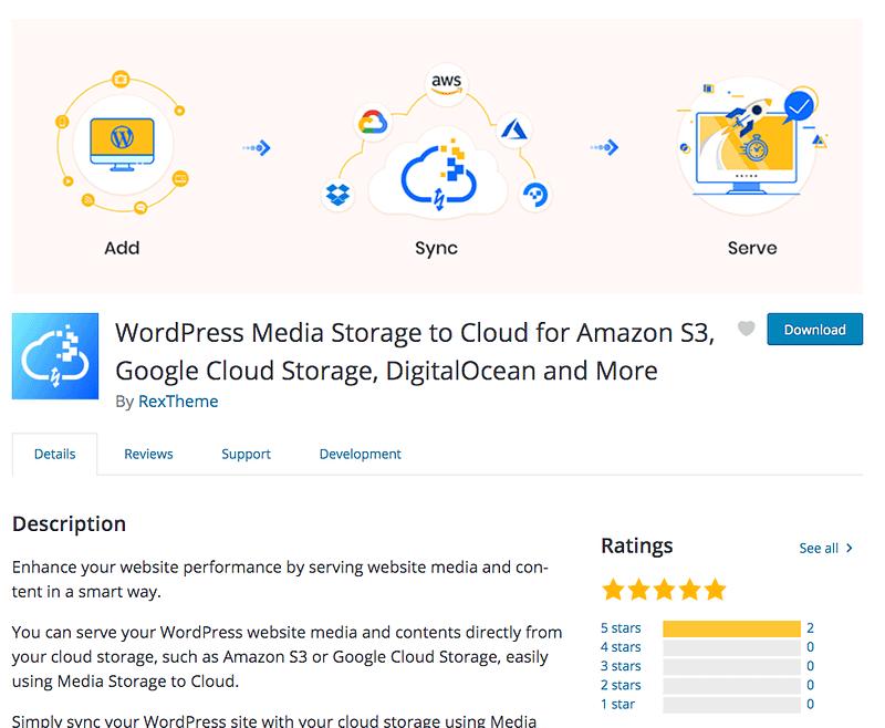 Media Storage to Cloud plugin