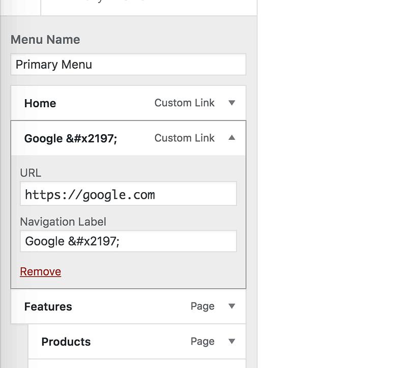 External Link Code